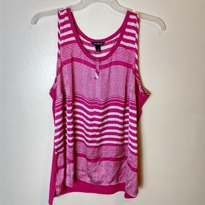 Pink And White George Tank